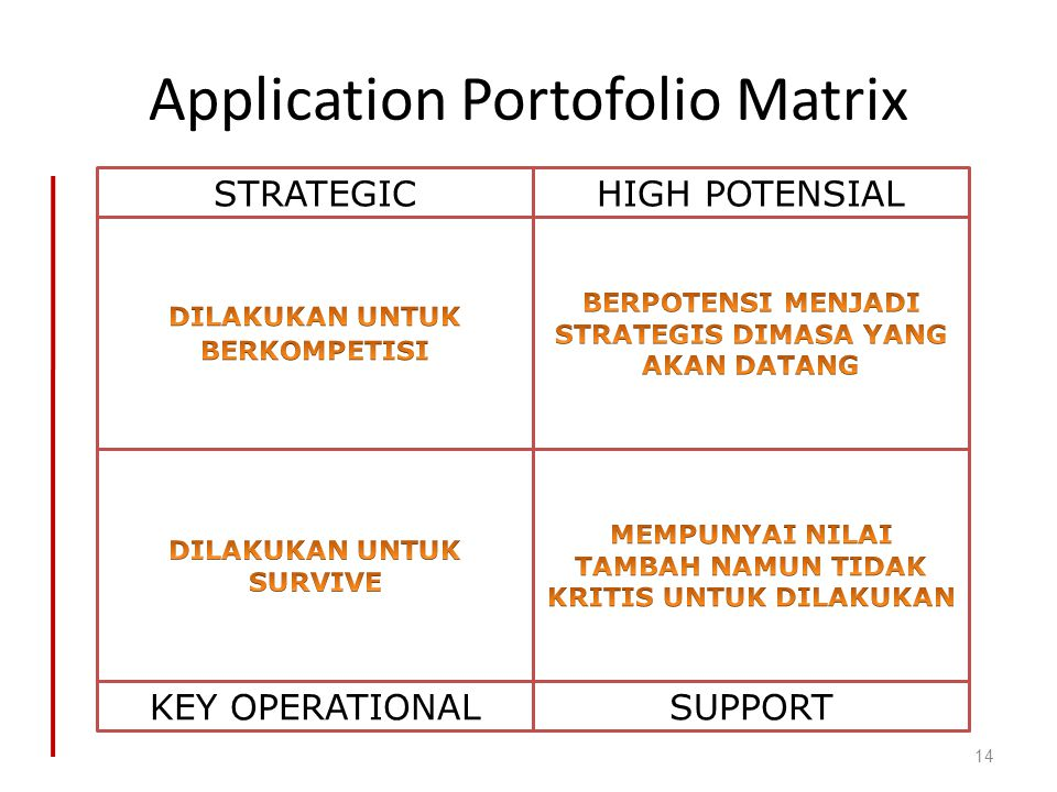 Application Portofolio Matrix