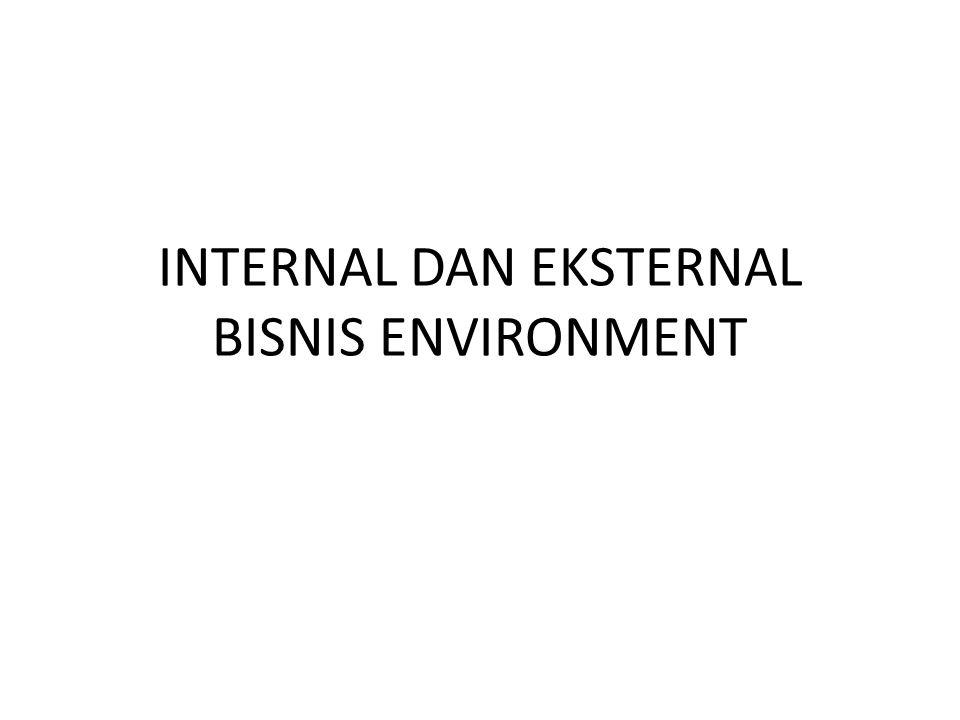 INTERNAL DAN EKSTERNAL BISNIS ENVIRONMENT