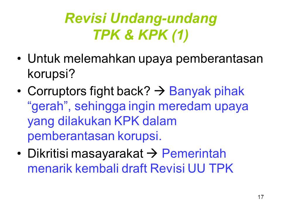 Revisi Undang-undang TPK & KPK (1)