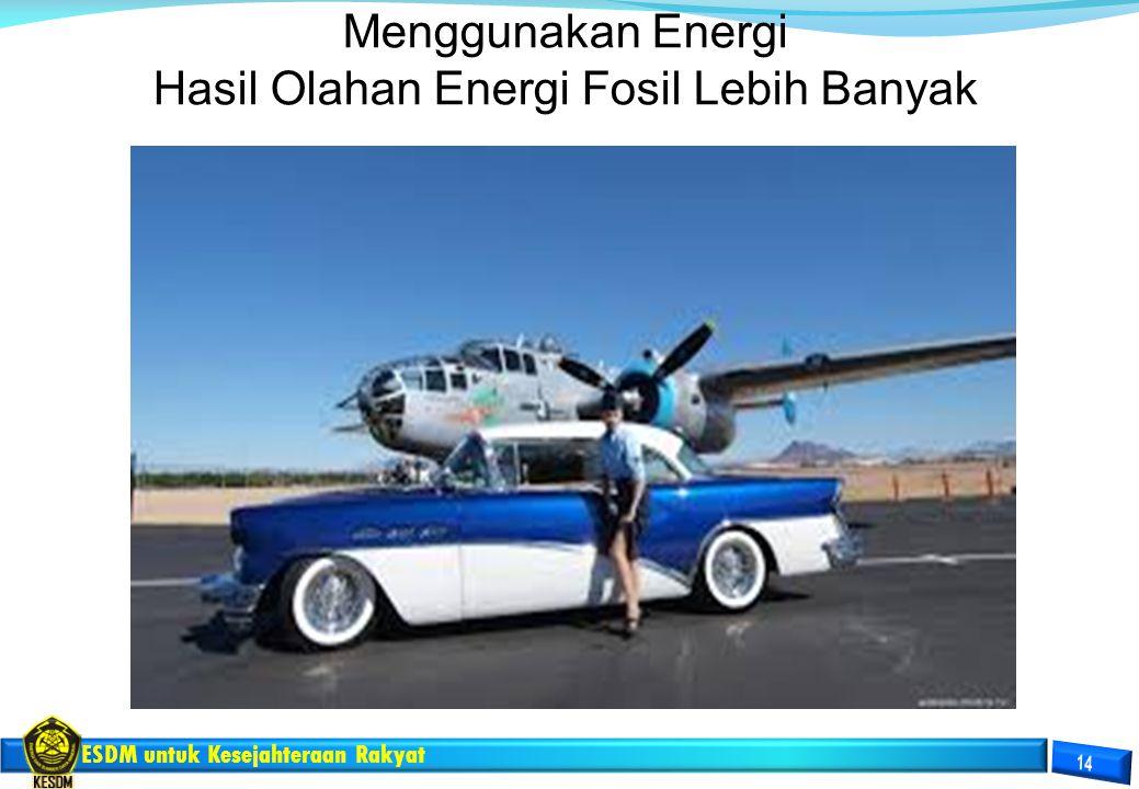 Hasil Olahan Energi Fosil Lebih Banyak