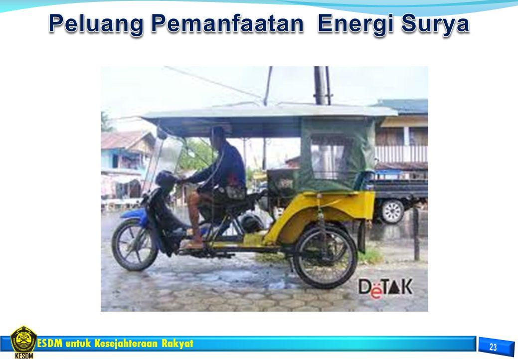 Peluang Pemanfaatan Energi Surya