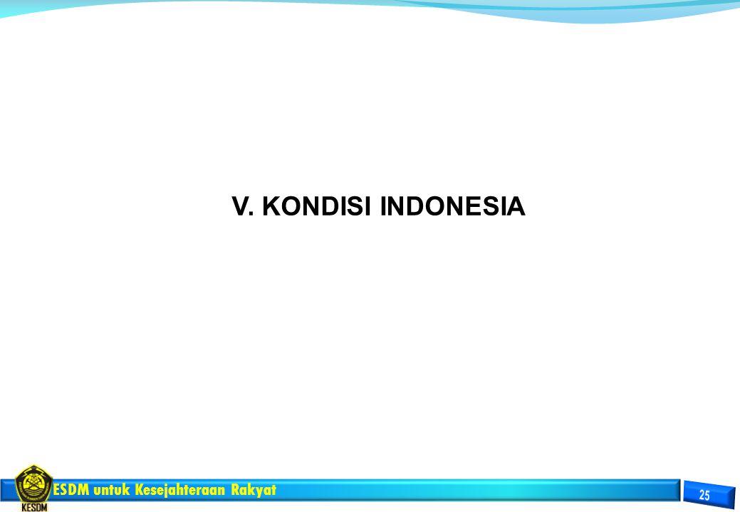 V. KONDISI INDONESIA
