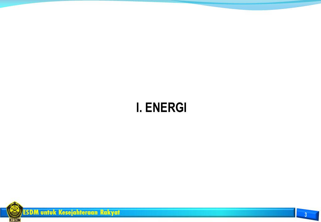I. ENERGI