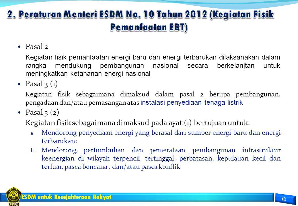 2. Peraturan Menteri ESDM No