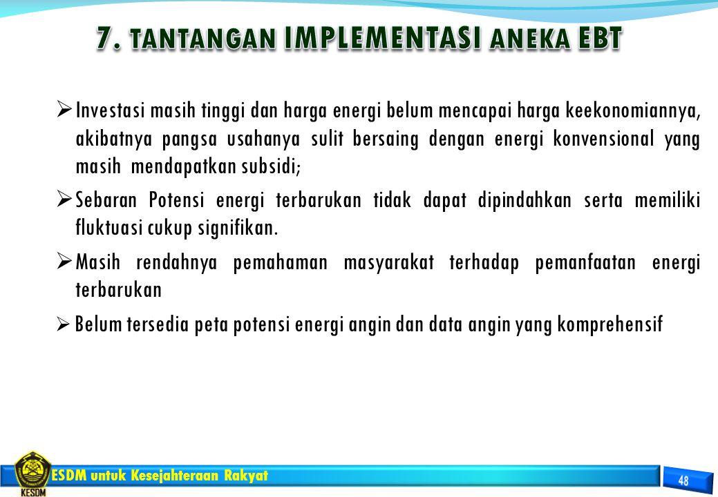 7. TANTANGAN IMPLEMENTASI ANEKA EBT