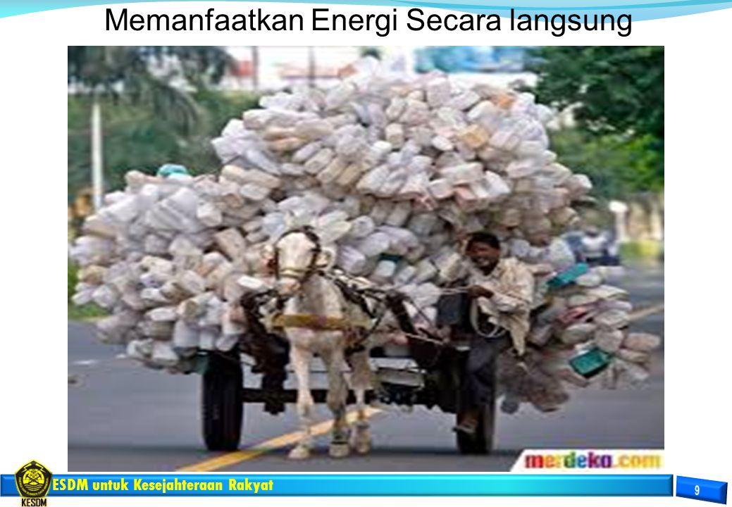 Memanfaatkan Energi Secara langsung