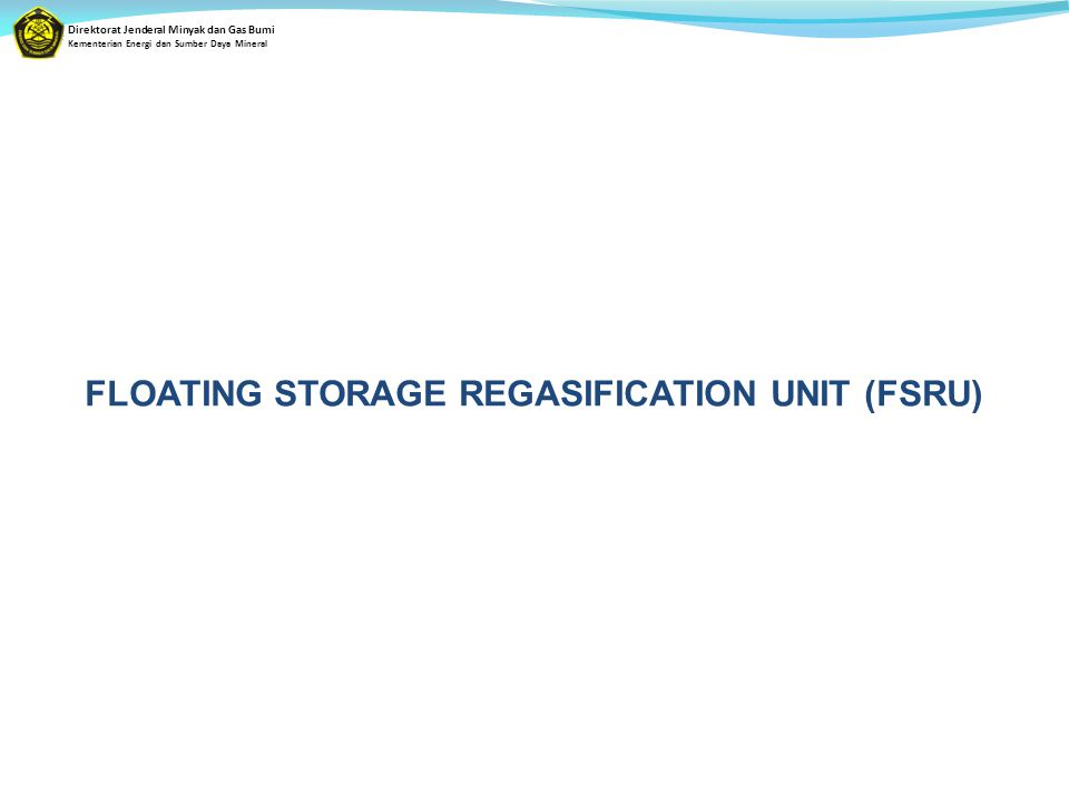 FLOATING STORAGE REGASIFICATION UNIT (FSRU)