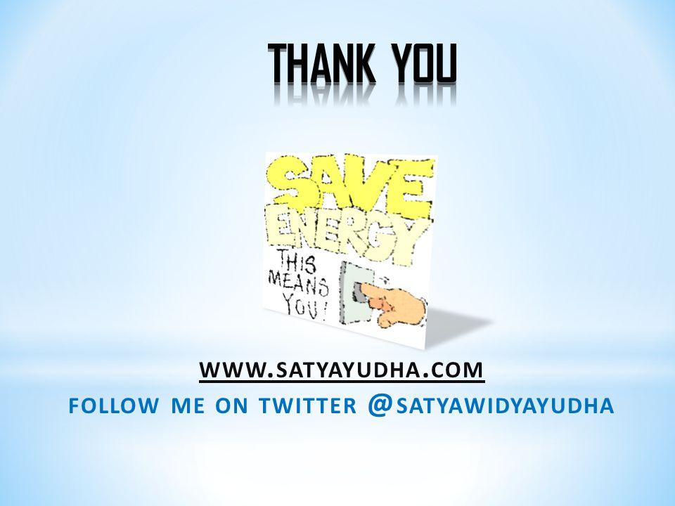 follow me on twitter @satyawidyayudha