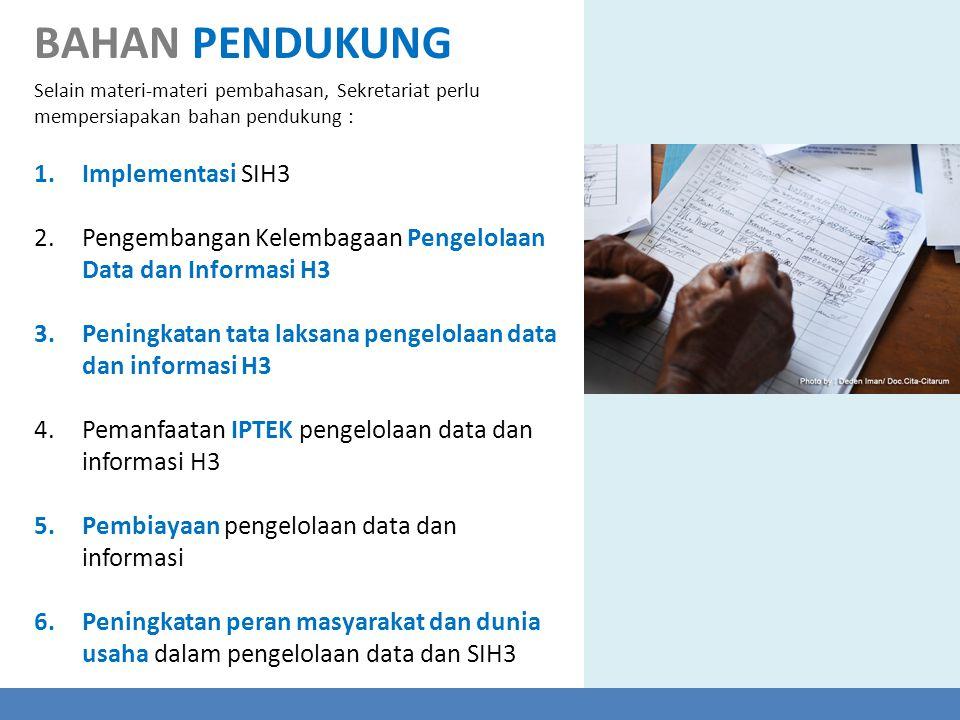 BAHAN PENDUKUNG Implementasi SIH3