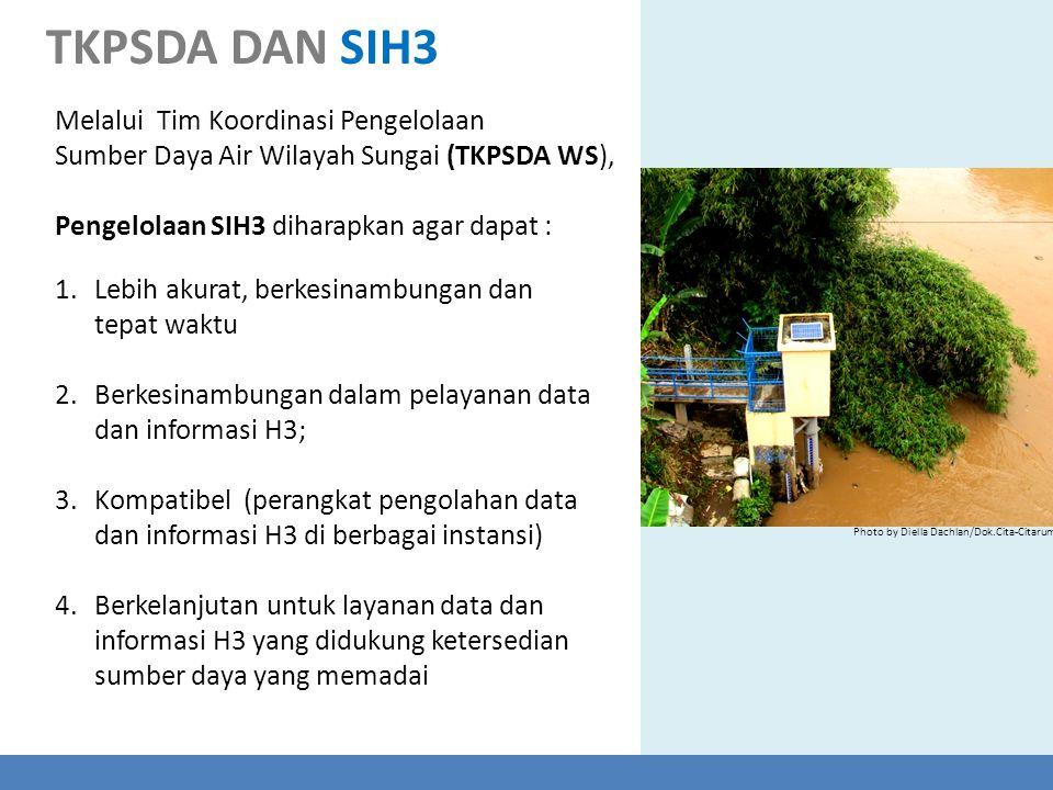 TKPSDA DAN SIH3 Melalui Tim Koordinasi Pengelolaan Sumber Daya Air Wilayah Sungai (TKPSDA WS), Pengelolaan SIH3 diharapkan agar dapat :