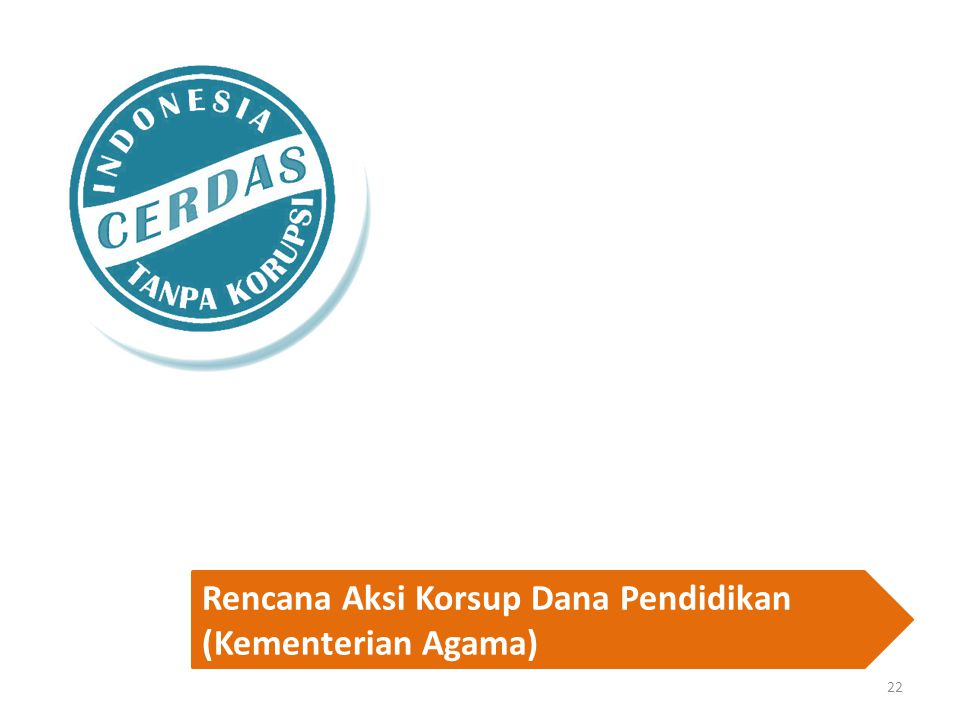 Rencana Aksi Korsup Dana Pendidikan (Kementerian Agama)