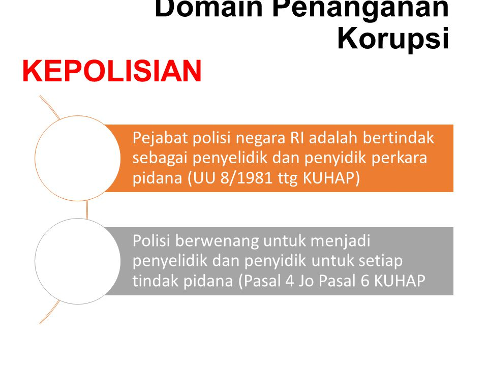 Domain Penanganan Korupsi