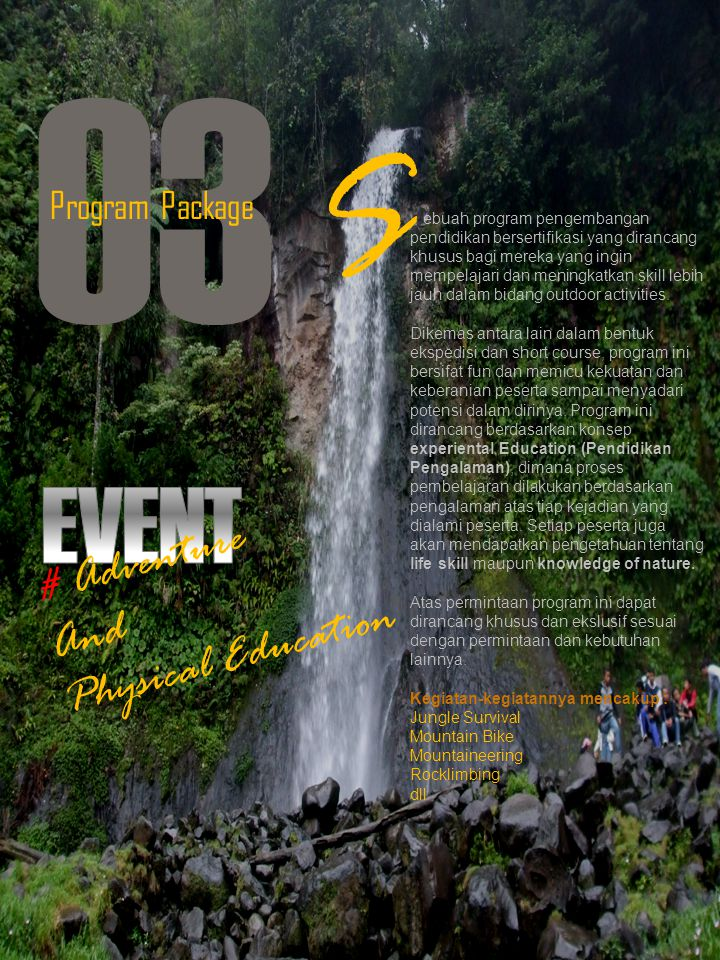 O3 S EVENT # Adventure Physical Education And Program Package