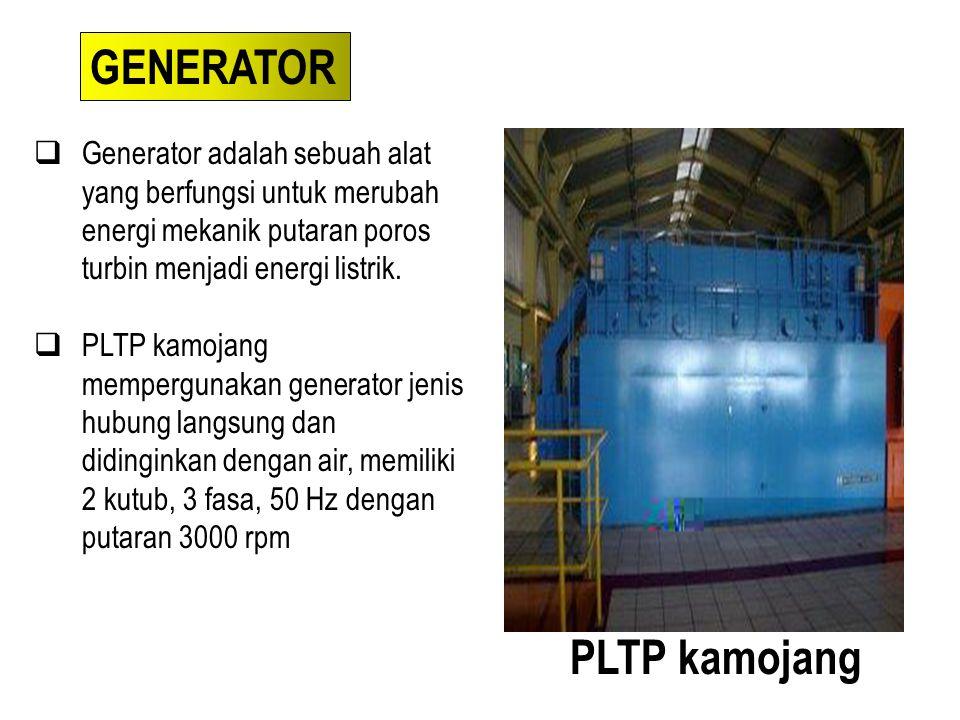 GENERATOR PLTP kamojang