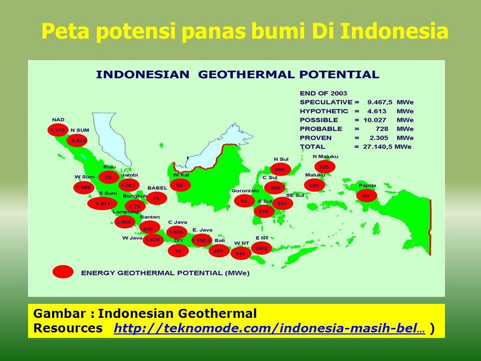 Peta potensi panas bumi Di Indonesia