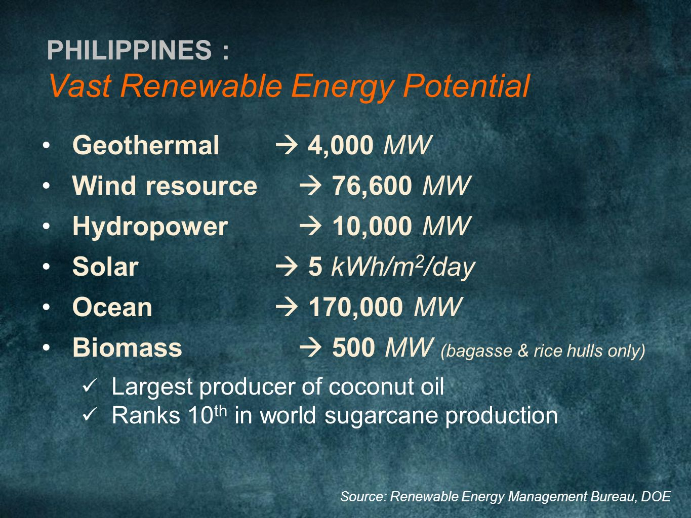 Vast Renewable Energy Potential