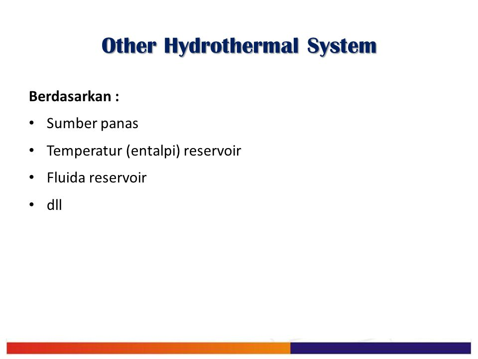 Other Hydrothermal System