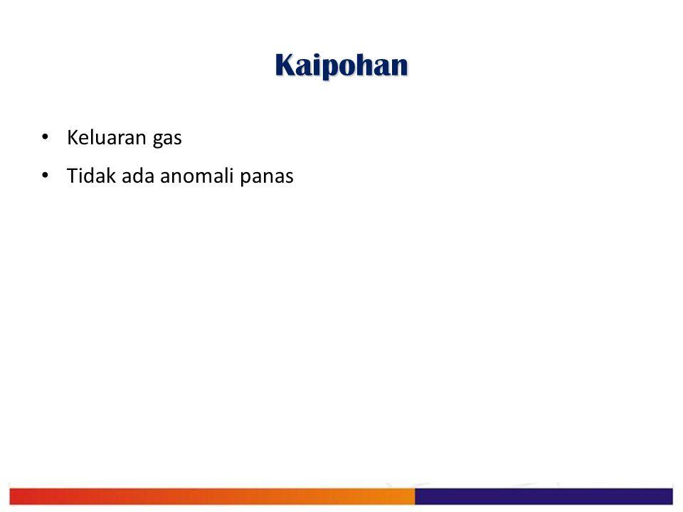 Kaipohan Keluaran gas Tidak ada anomali panas