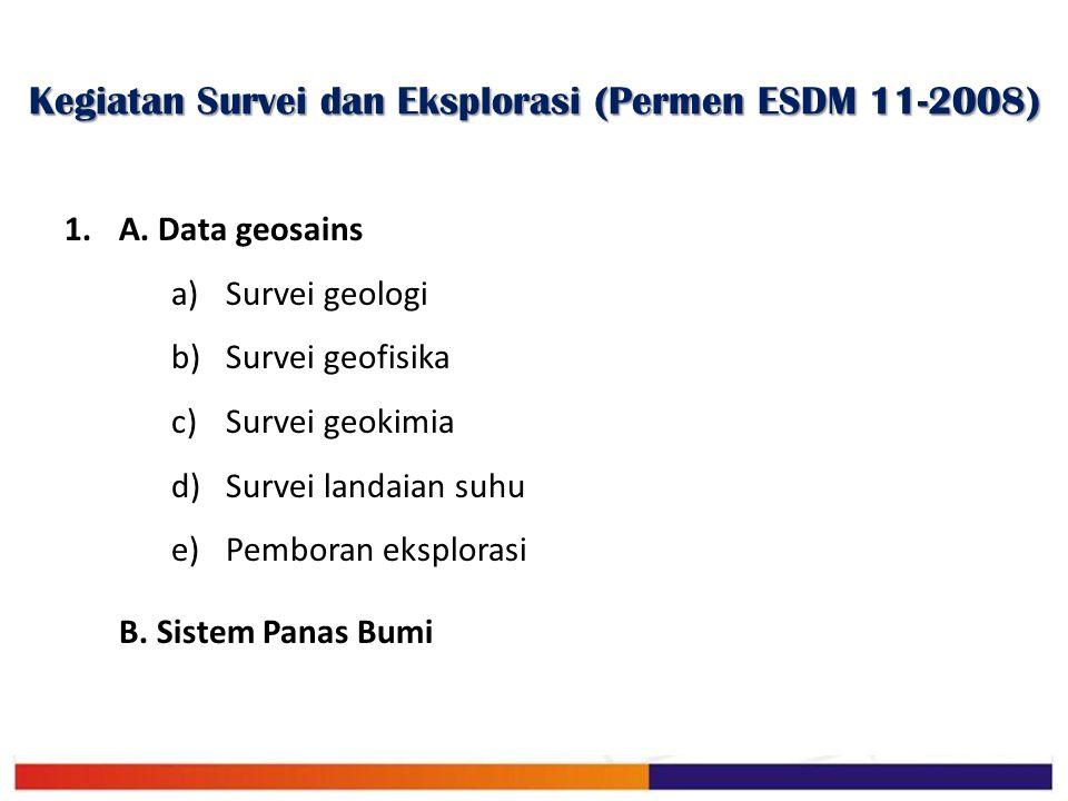 Kegiatan Survei dan Eksplorasi (Permen ESDM 11-2008)