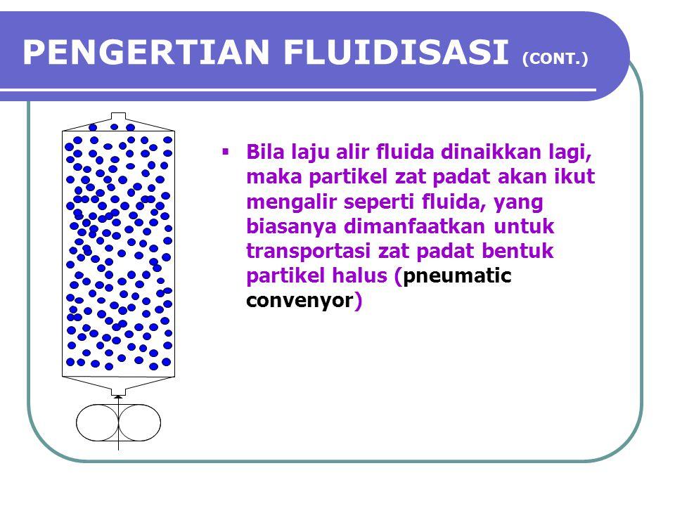 PENGERTIAN FLUIDISASI (CONT.)