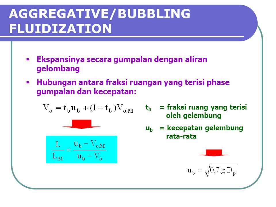 AGGREGATIVE/BUBBLING FLUIDIZATION
