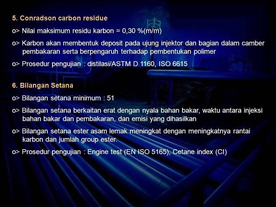 5. Conradson carbon residue