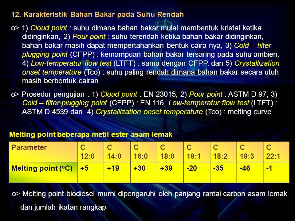 12. Karakteristik Bahan Bakar pada Suhu Rendah