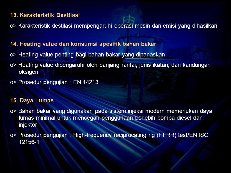 13. Karakteristik Destilasi
