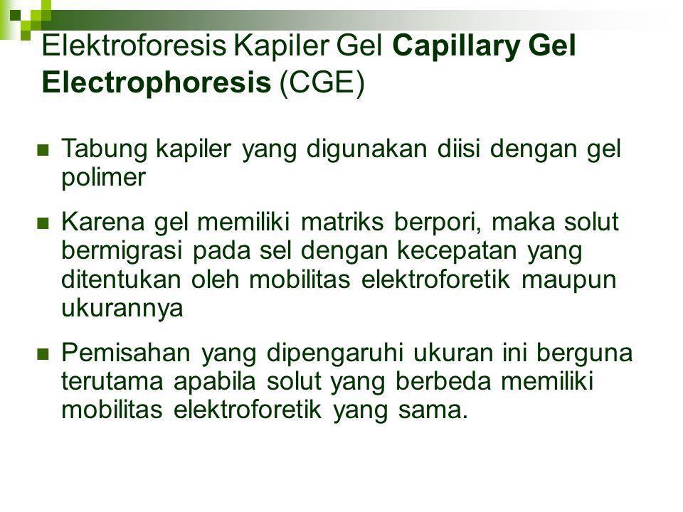 Elektroforesis Kapiler Gel Capillary Gel Electrophoresis (CGE)