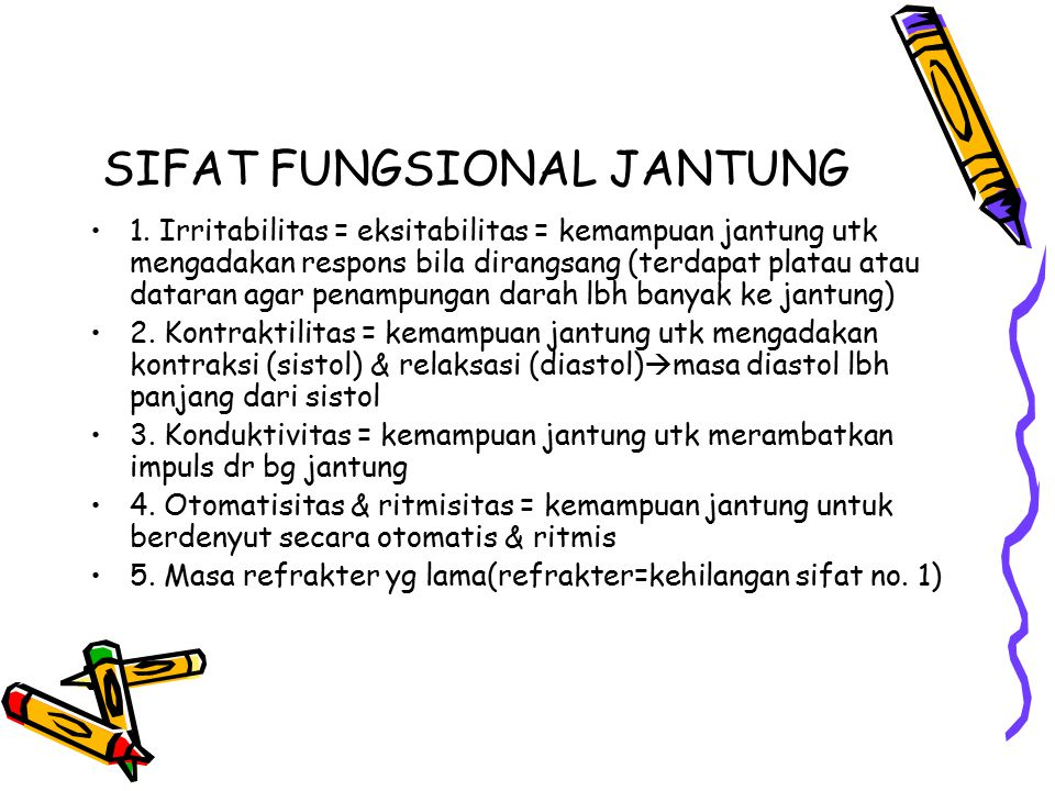 SIFAT FUNGSIONAL JANTUNG