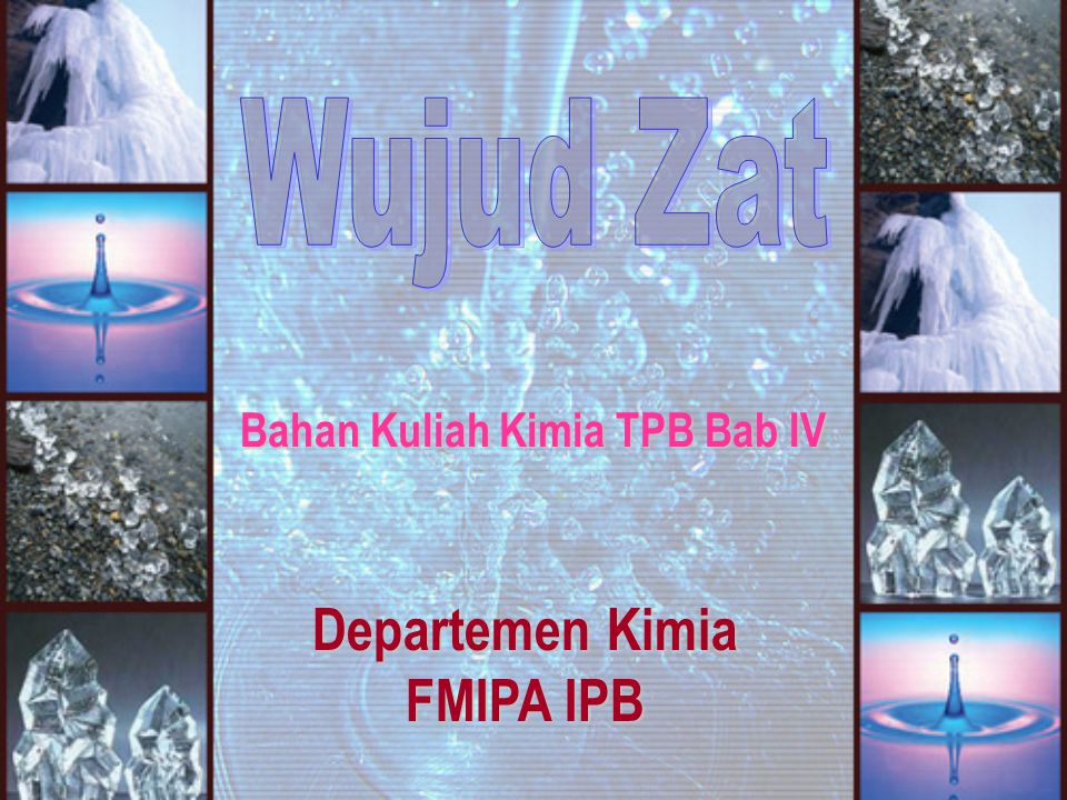 Bahan Kuliah Kimia TPB Bab IV