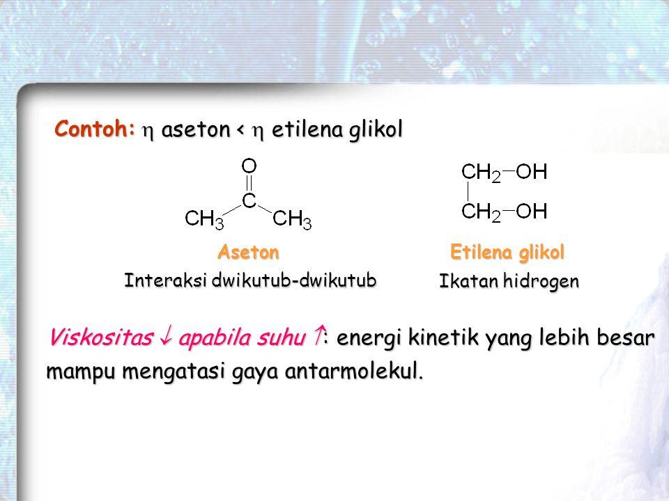  aseton <  etilena glikol