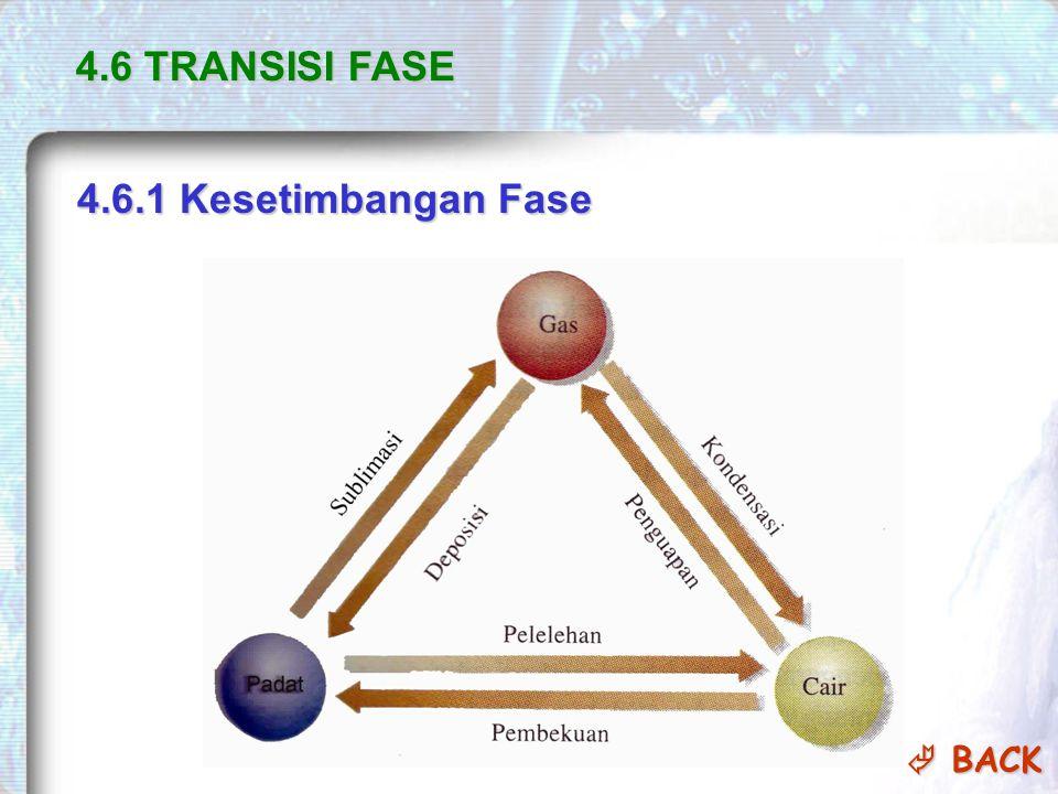4.6 TRANSISI FASE 4.6.1 Kesetimbangan Fase  BACK