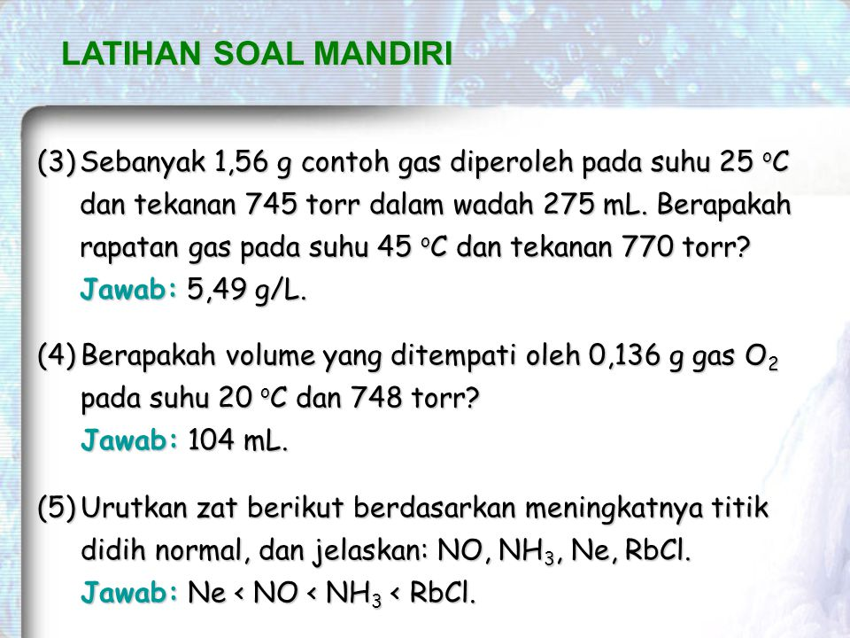 LATIHAN SOAL MANDIRI
