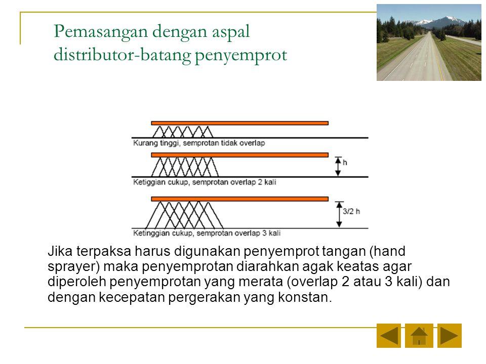 Pemasangan dengan aspal distributor-batang penyemprot