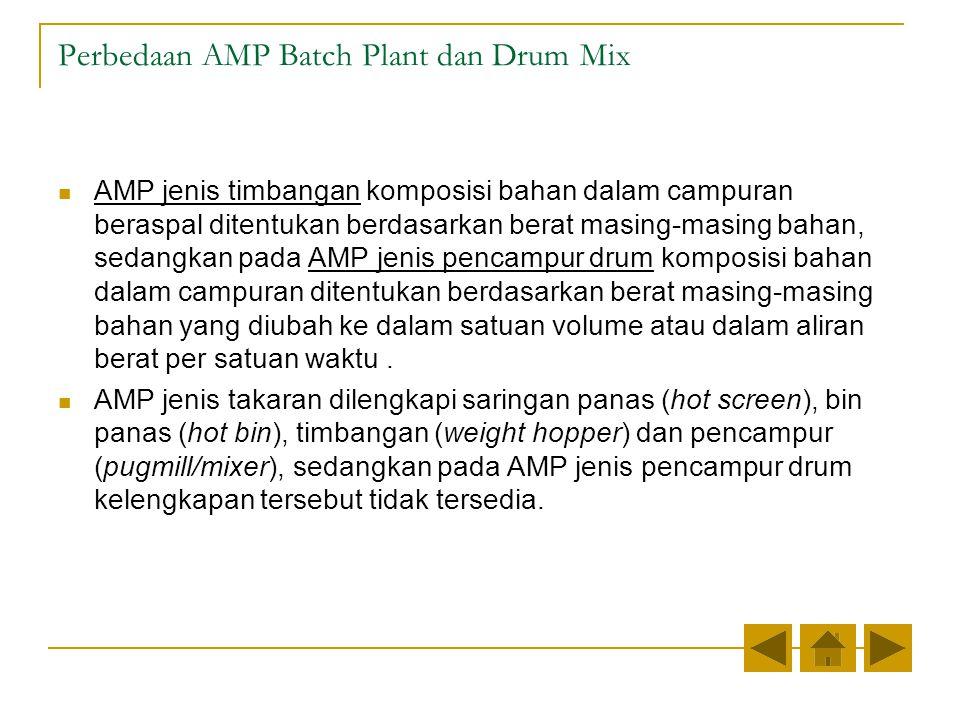 Perbedaan AMP Batch Plant dan Drum Mix
