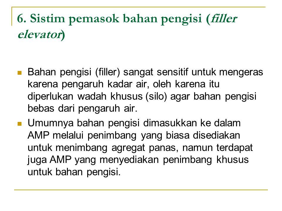 6. Sistim pemasok bahan pengisi (filler elevator)