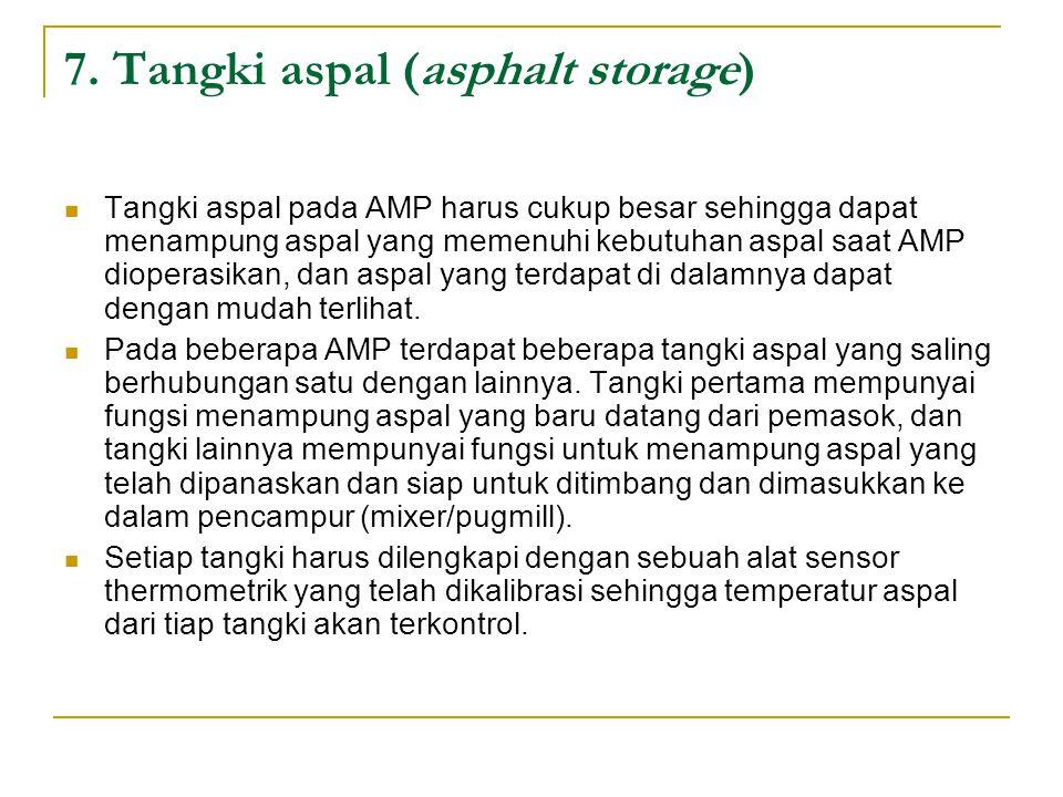 7. Tangki aspal (asphalt storage)