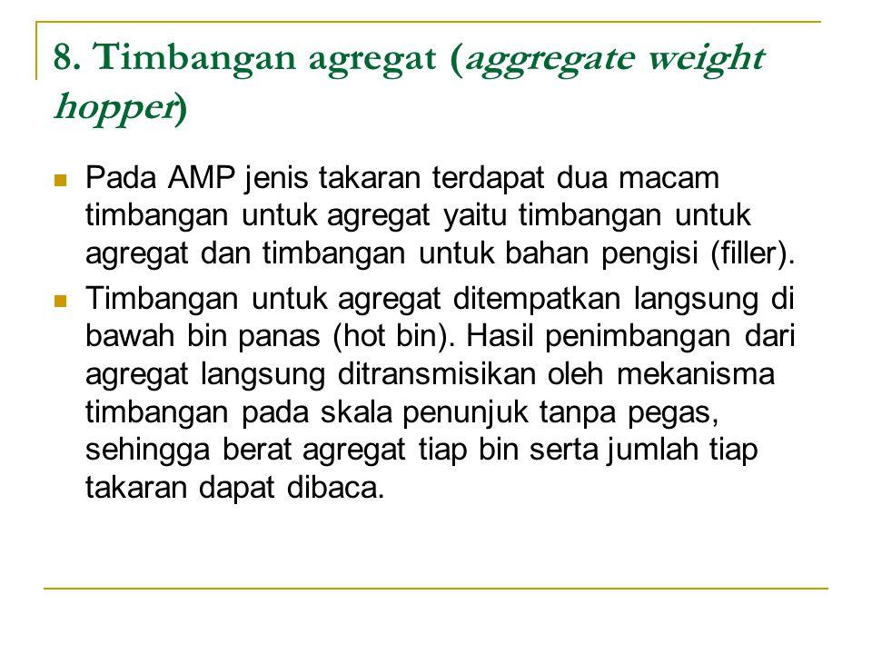 8. Timbangan agregat (aggregate weight hopper)