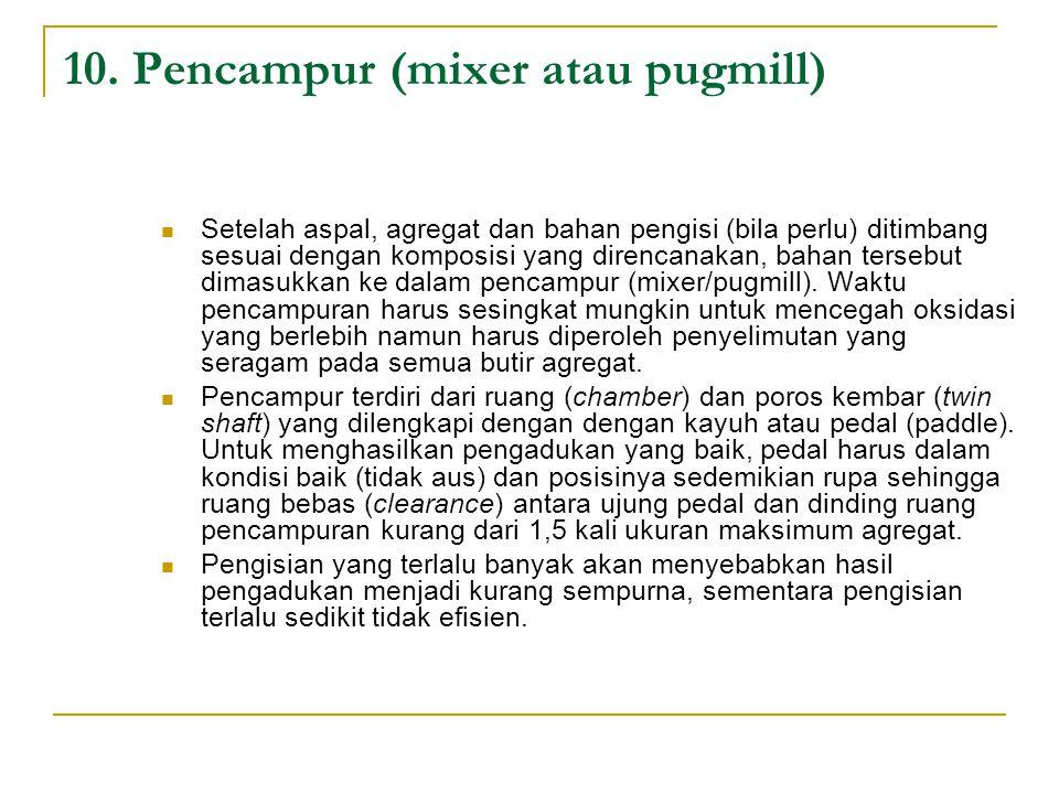 10. Pencampur (mixer atau pugmill)