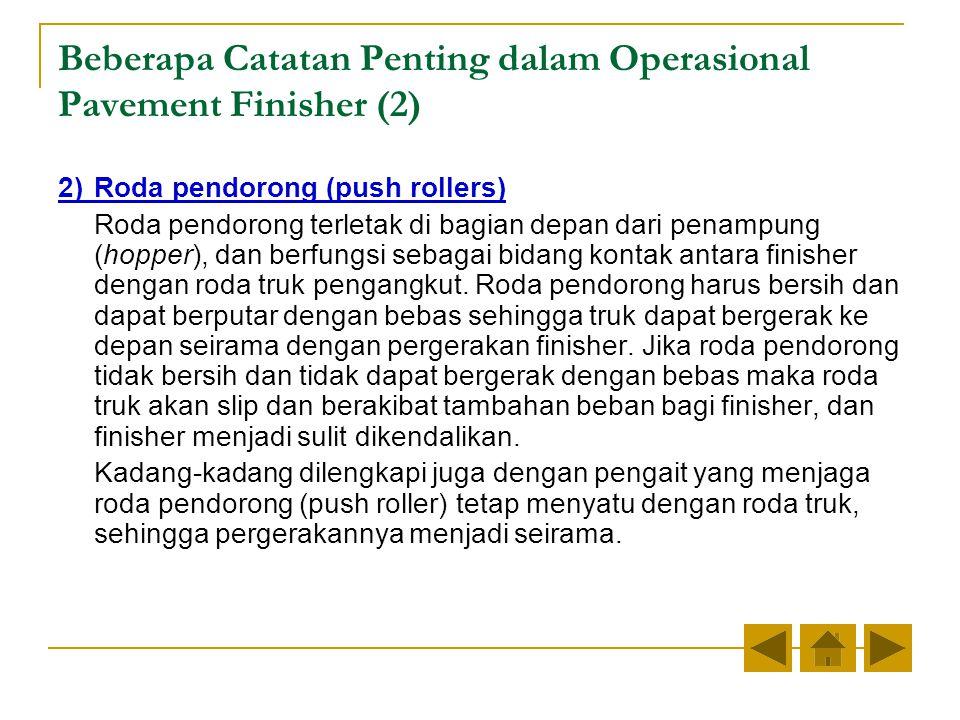 Beberapa Catatan Penting dalam Operasional Pavement Finisher (2)