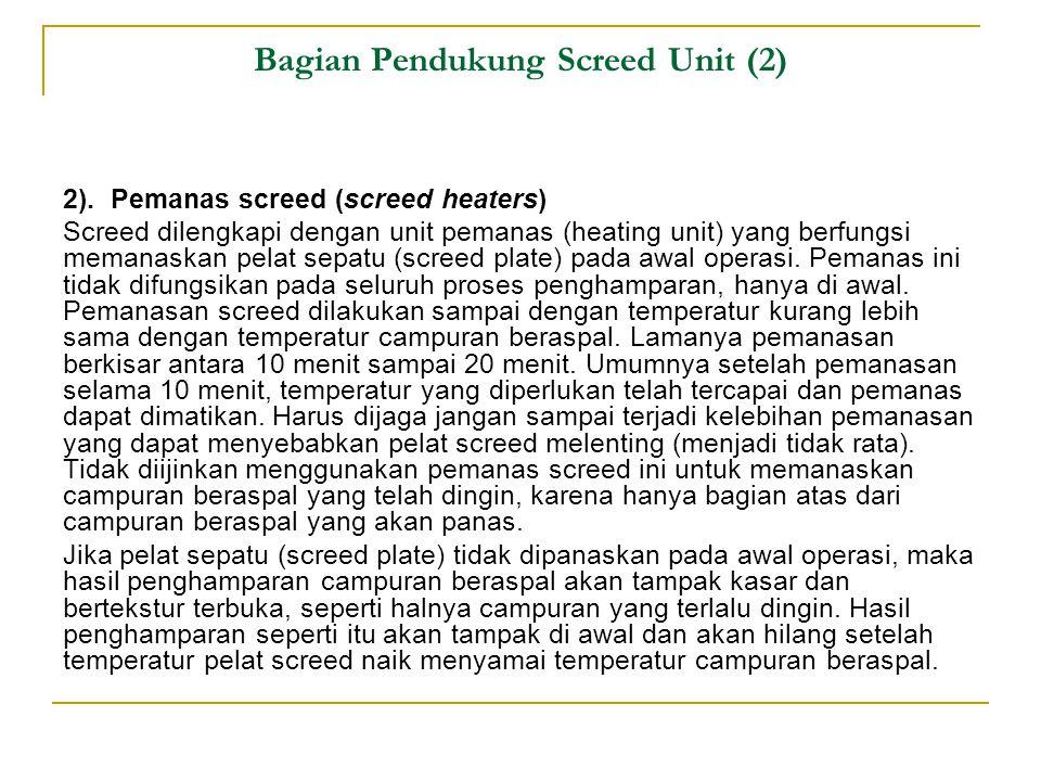 Bagian Pendukung Screed Unit (2)