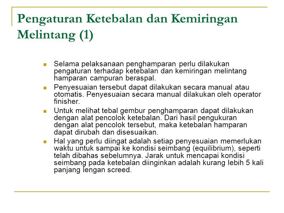 Pengaturan Ketebalan dan Kemiringan Melintang (1)
