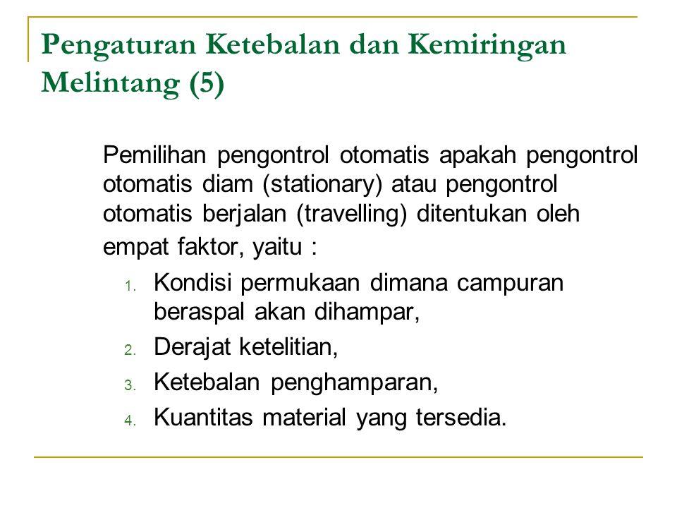 Pengaturan Ketebalan dan Kemiringan Melintang (5)