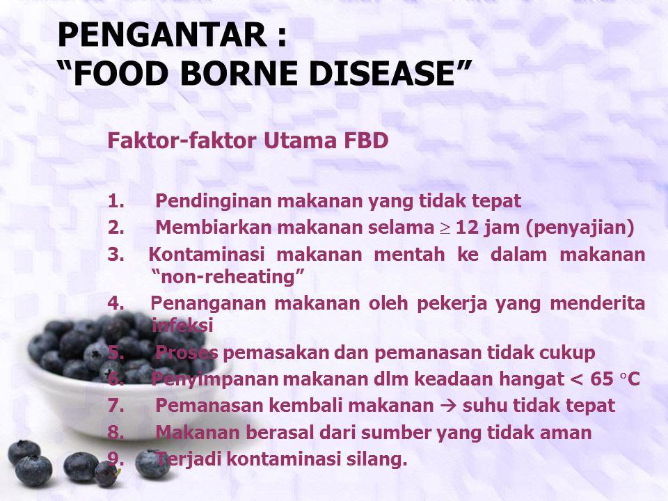 PENGANTAR : FOOD BORNE DISEASE