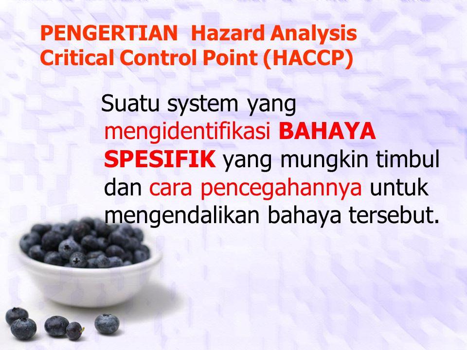 PENGERTIAN Hazard Analysis Critical Control Point (HACCP)