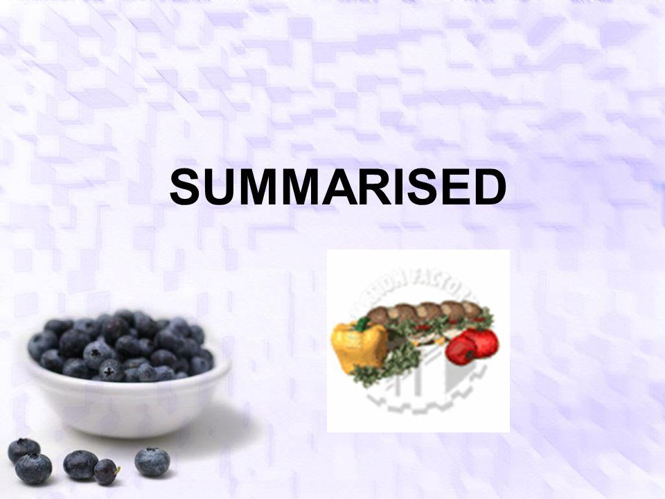 SUMMARISED