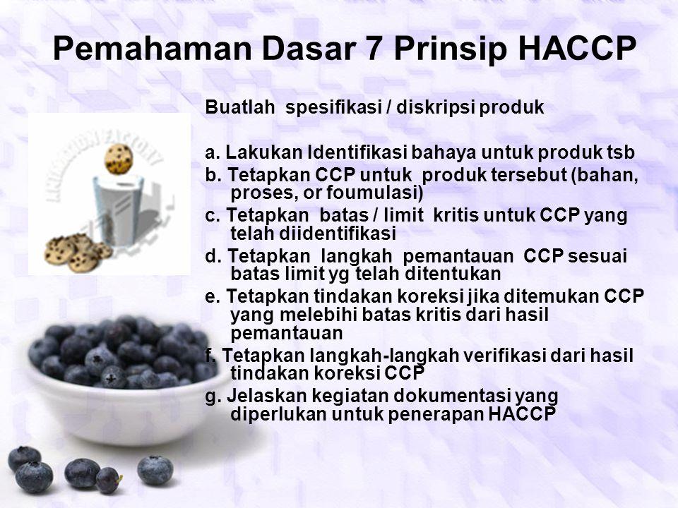 Pemahaman Dasar 7 Prinsip HACCP