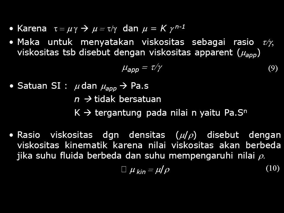 mapp = t/g Karena t = m g  m = t/g dan m = K g n-1
