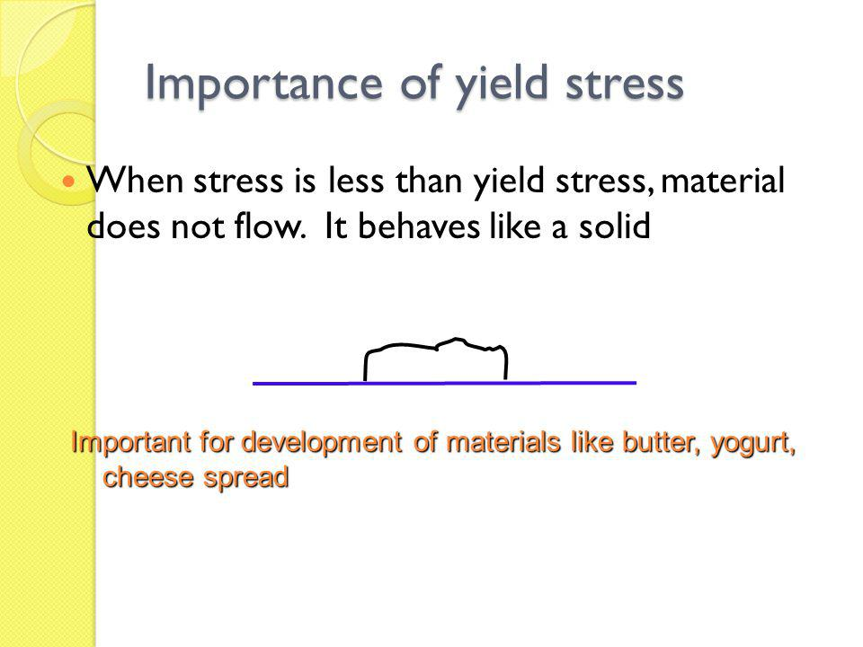 Importance of yield stress